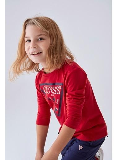 Guess Erkek Çocuk Kırmızı T-Shirt Kırmızı